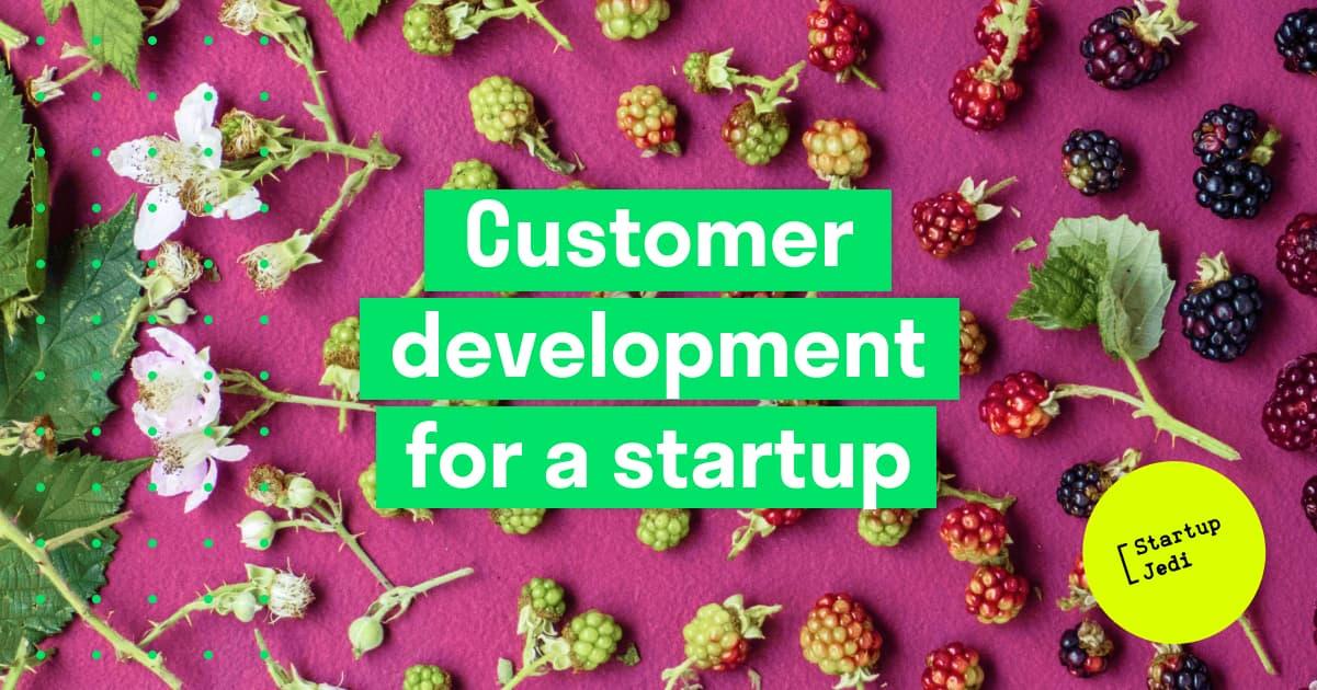 Customer development for a startup