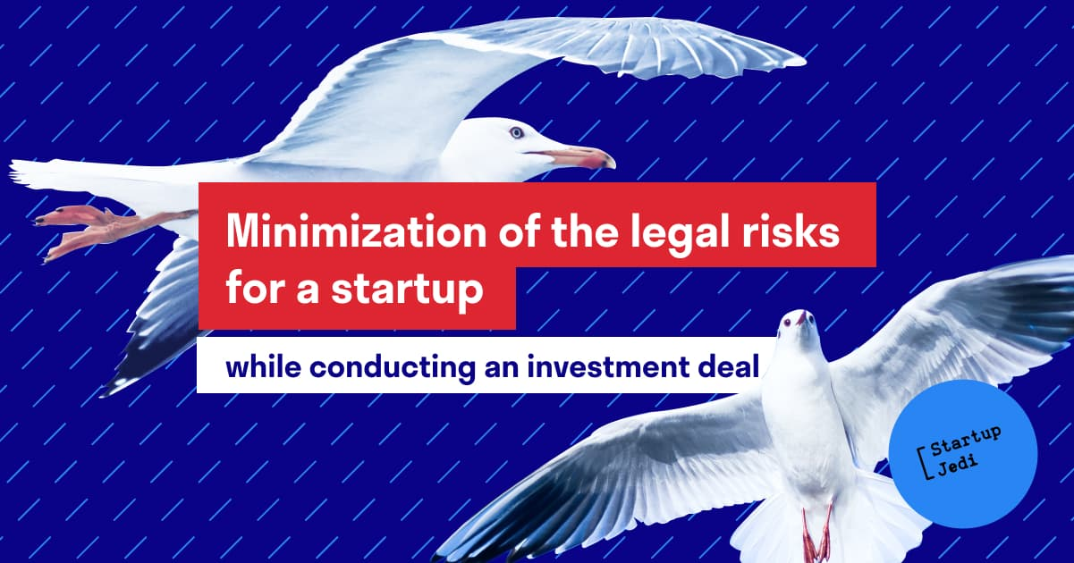 When to involve a lawyer Ideally, the sooner the better. In practice, when a new investor enters a startup, the package of necessary documents is wider than described above, and there are pitfalls in any of them. Typical templates that can be found on the Internet often do not reflect the full picture of a particular business. I would also advise to involve other experts in document development-for example, technology startups can use the services of IT specialists. It is best to entrust the supervision o