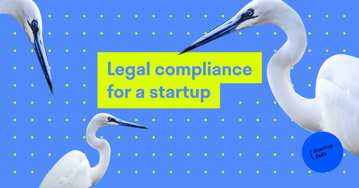 Legal compliance for a startup