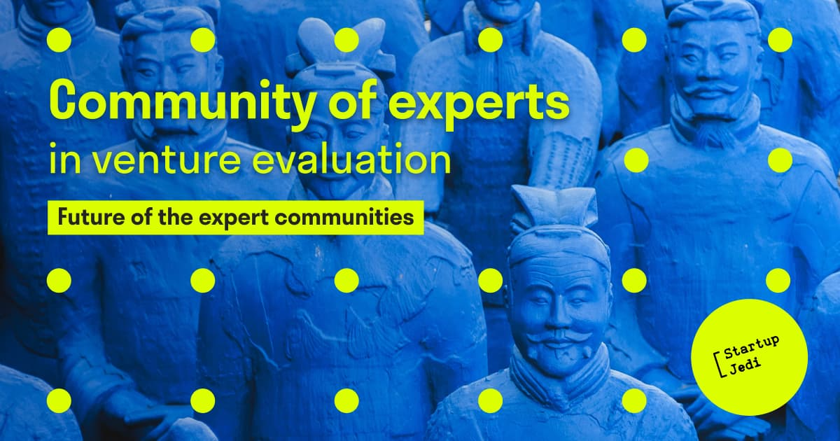 Community of experts in venture evaluation