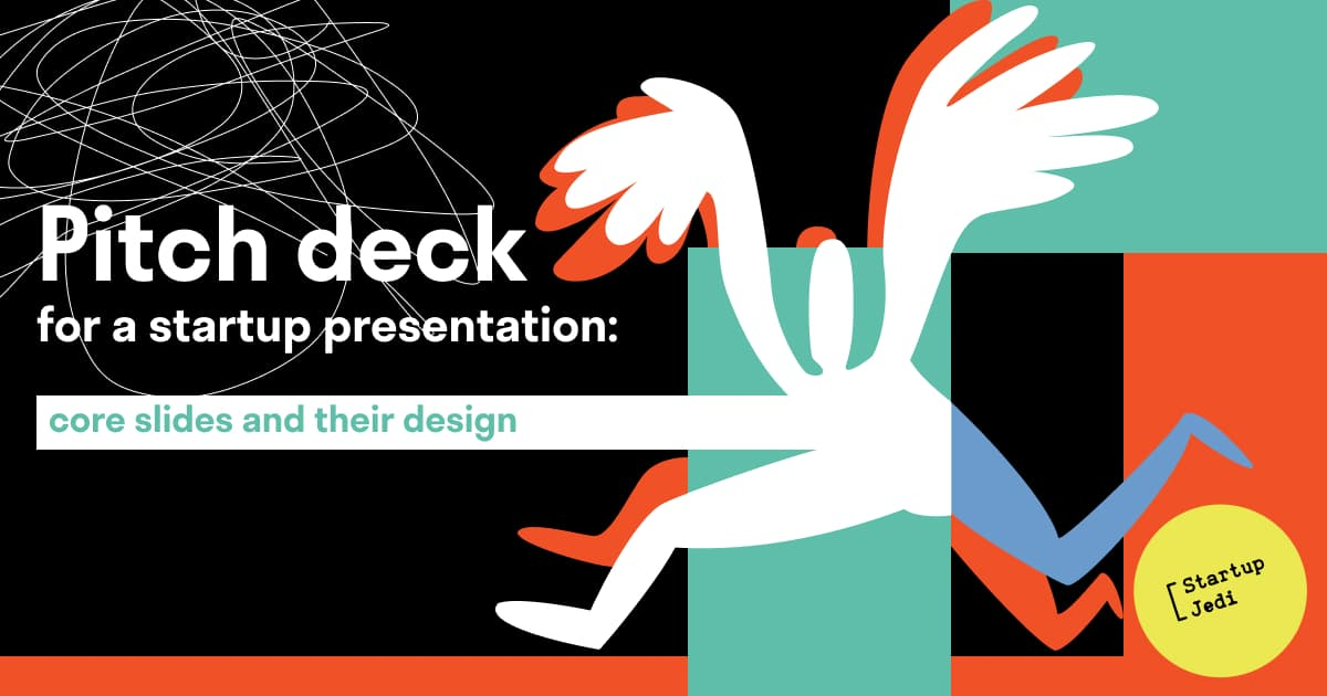 Pitch deck for a startup presentation: core slides and their design